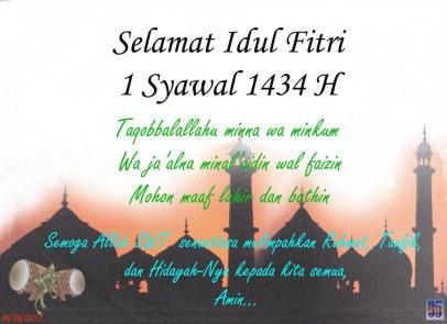 1 Syawal 1434 H